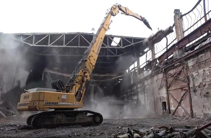 Demolition of the pickling plant