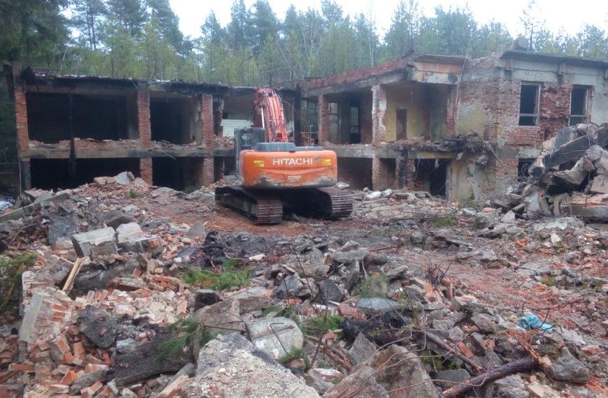 Demolition of objects Hradčany nad Ploučnicí