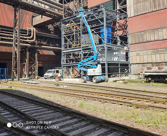 Equipment for processing of lime for desulphuritazion of pig iron