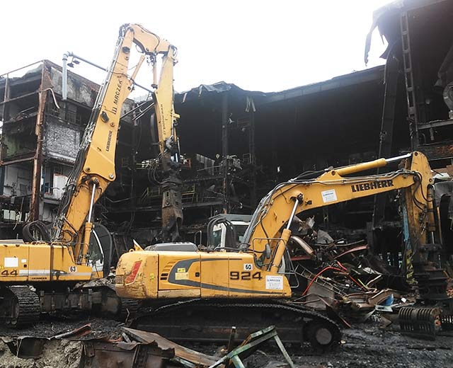Demolition of the ČSA screening plant